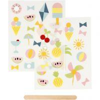 Rub-on Sticker , vakantie, 12,2x15,3 cm, 1 doos