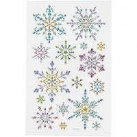 Diamond stickers, ijskristallen, 10x16 cm, 1 vel