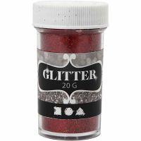 Glitter, rood, 20 gr/ 1 Doosje