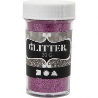 Glitter, roze, 20 gr/ 1 Doosje