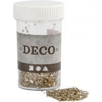 Glitter, afm 1-3 mm, goud, 30 gr/ 1 Doosje