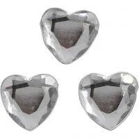 Strasstenen, afm 10 mm, zilver, 150 stuk/ 1 doos