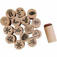 Deco Art Stempels, Kerst, H: 26 mm, d: 20 mm, 15 stuk/ 1 doos