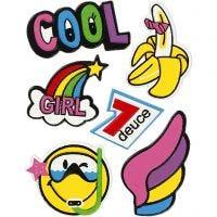 Soft Stickers , Cool Girl, 12,2x17,75 cm, 1 vel