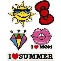 Soft Stickers , I Love Mom, 12,2x17,75 cm, 1 vel