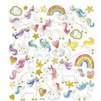 Stickers, eenhoorn, 15x16,5 cm, 1 vel