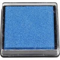 Inktkussen, afm 40x40 mm, lichtblauw, 1 stuk