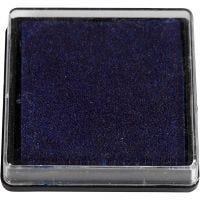 Inktkussen, afm 40x40 mm, donkerblauw, 1 stuk