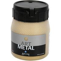Hobbyverf metallic, licht goud, 250 ml/ 1 fles
