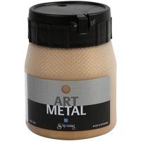 Hobbyverf metallic, medium goud, 250 ml/ 1 fles