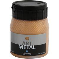 Hobbyverf metallic, donker goud, 250 ml/ 1 fles