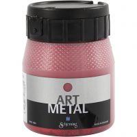 Hobbyverf metallic, Lava rood, 250 ml/ 1 fles