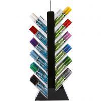 Glas- & Porseleinstiften, H: 52 cm, diepte 11,5 cm, B: 24 cm, diverse kleuren, 24x6 stuk/ 1 doos