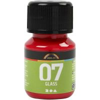 A-Color Glass, rood, 30 ml/ 1 fles