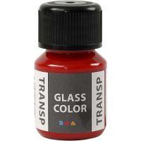 Glass Color Transparent, rood, 30 ml/ 1 fles