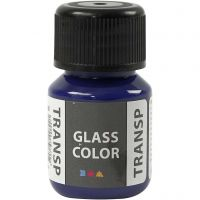 Glass Color Transparent, brilliant blauw, 30 ml/ 1 fles