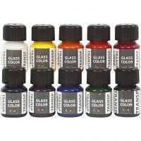 Glass Color Transparent, diverse kleuren, 10x30 ml/ 1 doos