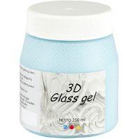 3D Glass Gel, Azure, 250 ml/ 1 Doosje