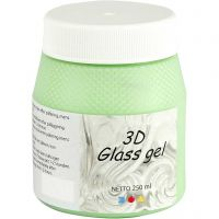 3D Glass Gel, groen, 250 ml/ 1 Doosje