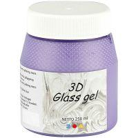 3D Glass Gel, lilac, 250 ml/ 1 Doosje