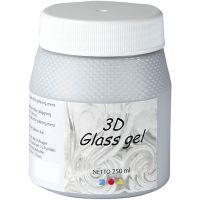 3D Glass Gel, zilver, 250 ml/ 1 Doosje