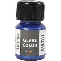 Glass Color Metal, blauw, 30 ml/ 1 fles