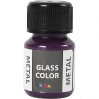 Glass Color Metal, paars, 30 ml/ 1 fles