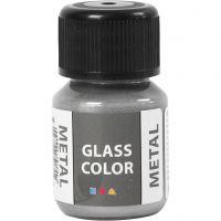 Glass Color Metal, zilver, 30 ml/ 1 fles