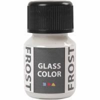 Glass Color Frost, wit, 30 ml/ 1 fles