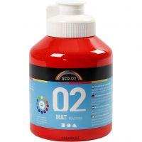School acrylverf mat, matt, rood, 500 ml/ 1 fles