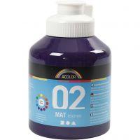 School acrylverf mat, matt, violet, 500 ml/ 1 fles