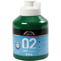 School acrylverf mat, matt, donkergroen, 500 ml/ 1 fles