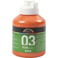 School acrylverf metallic, metallic, oranje, 500 ml/ 1 fles