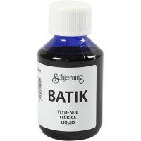 Batikverf, brilliant blauw, 100 ml/ 1 fles