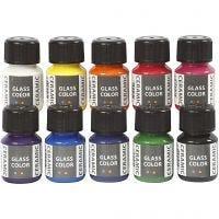 Glass Color Ceramic, diverse kleuren, 10x35 ml/ 1 doos
