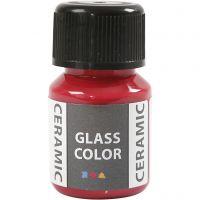 Glas Keramiek verf, karmijnrood, 35 ml/ 1 fles