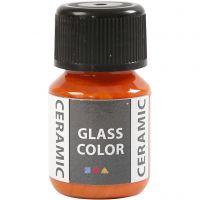 Glas Keramiek verf, oranje, 35 ml/ 1 fles