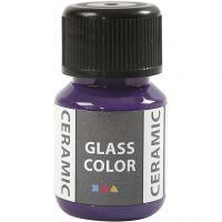 Glas Keramiek verf, violet, 35 ml/ 1 fles