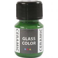 Glas Keramiek verf, brilliant groen, 35 ml/ 1 fles