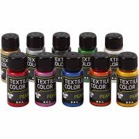 Textile Color, parelmoer, diverse kleuren, 10x50 ml/ 1 doos