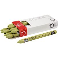 Neocolor I, L: 10 cm, dikte 8 mm, light olive (245), 10 stuk/ 1 doos