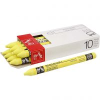 Neocolor I, L: 10 cm, dikte 8 mm, lemon yellow (240), 10 stuk/ 1 doos