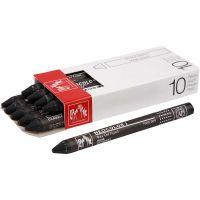 Neocolor I, L: 10 cm, dikte 8 mm, black (009), 10 stuk/ 1 doos