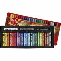 Neopastel, L: 6,5 cm, dikte 8 mm, diverse kleuren, 24 stuk/ 1 doos