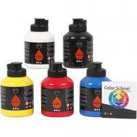 Pigment Art School, primair kleuren, 5x500 ml/ 1 doos