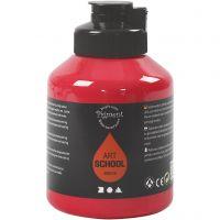 Pigment Art School, semi-transparant, primair rood, 500 ml/ 1 fles