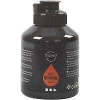 Pigment Art School, dekkend, zwart, 500 ml/ 1 fles
