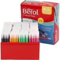 Berol Colourfine, lijndikte 0,3-0,7 mm, diverse kleuren, 288 stuk/ 1 doos
