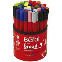 Berol stift, d: 10 mm, lijndikte 1-1,7 mm, diverse kleuren, 42 stuk/ 1 Doosje