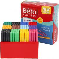 Berol stift, lijndikte 1-1,7 mm, diverse kleuren, 288 stuk/ 1 doos